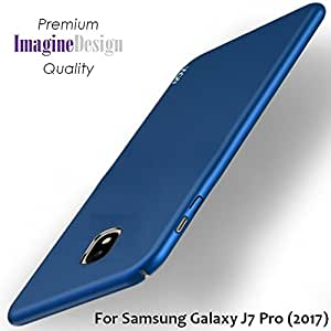 """WOW Imagine All Sides Protection """"360 Degree"""" Sleek Rubberised Matte Hard Case Back Cover For Samsung Galaxy J7 Pro - Blue"""