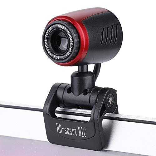 Garsent Caméra Webcam USB, 16MP HD USB2.0 Caméra Web avec Microphone Rotation à 360 ° Webcam 1080P HD Portable Compatible avec Windows 2000 / XP / 7/8/10 / Vista 32bit.