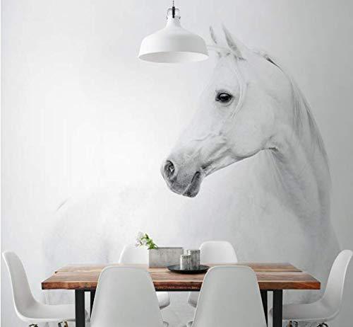 Papier Peint Mural Poster Géant 3D Cheval Blanc Luxe Enfant Chambre Garcon Fille Ado Décoration De La Maison