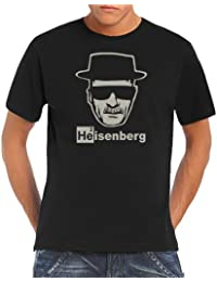 Touchlines Men's T-Shirt Heisenberg Walter White Logo (85% cotton and 15% viscose)