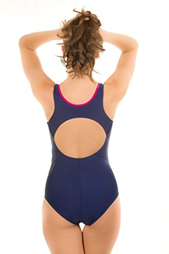Aqua Speed® Badeanzug Kate Dameneinteiler Pro Back Schwimmrücken Newport marine / violett