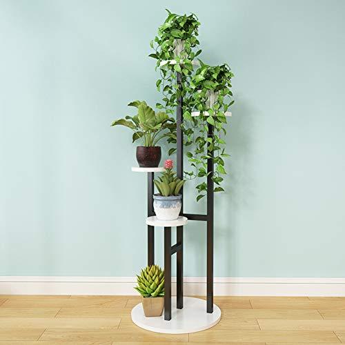 Zeitgenössische Schwarz Lagerung (LSLH Holz-basierten Panel Mehrgeschossige Bodenstehende Flower ständer,Moderne Minimalistischen Wohnzimmer Tv-Schrank Balkontür Regal Pflanze-ständer-L 40x40x120cm(16x16x47inch))
