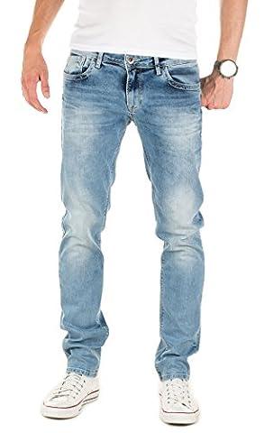 WOTEGA Homme Jeans Ivern slim, Bleu (Forever Blue 164019), W36/L34