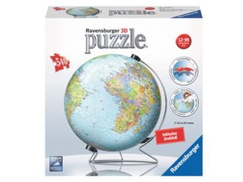 Ravensburger 12435 - Globus in deutscher Sprache 3D-Puzzle