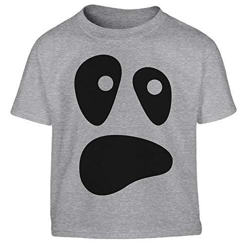 Halloween Kostüm Ghost Geister Gesicht Kleinkind Kinder T-Shirt - Gr. 86-116 86/94 (1-2J) Grau