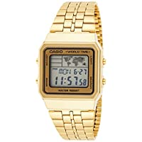 Casio Men's Digital Dial Stainless Steel Band Watch - A500WGA-9D
