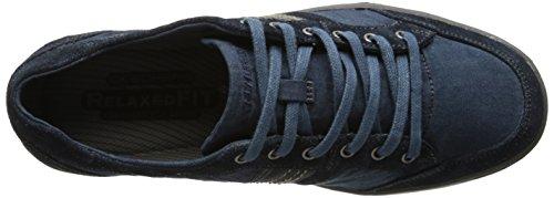Skechers - Sorino, Scarpe stringate basse oxford Uomo Blu (Blu (Navy))