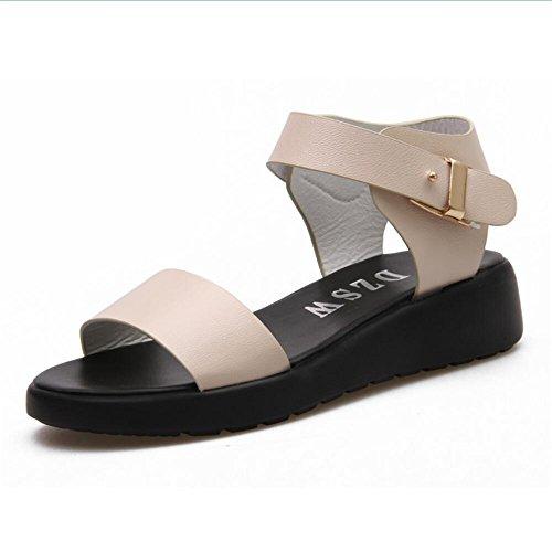Sandalen Frauen Sommer skid Toe Sandalen ausgesetzt Beige
