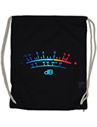 DB Meter II Drawstring Bag Decibel Music Bass Retro Radio Cassette Tape Record Vinyl Stereo Music Musik Recorder Studio Recording Producer Designer Shirt