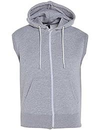 GG Jungen Kinder Plain Fleece Zip Ärmellos Hoodie Gilet Sweatshirt Jacke