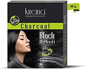 Charcoal Black Mehandi Natural Color 60 gm (2.11 oz)
