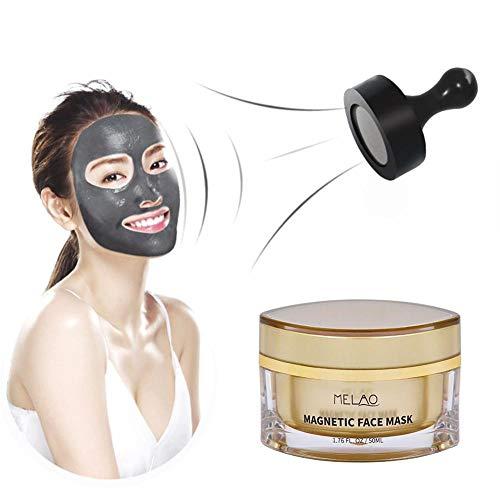 Magnetisch Gesichts Maske,Schwarze Mitesser Maske,Schlamm-Magnetmaske, die gründlich Öl-Steuermagnetschlamm entfernt,der Mitesser schrumpfende Poren-mit Magnet+Löffel-Colinsa