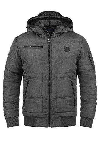 Blend Boris Teddy Herren Winter Jacke Steppjacke Winterjacke gefüttert mit Kapuze, Größe:L, Farbe:Granite Teddy (75127) -