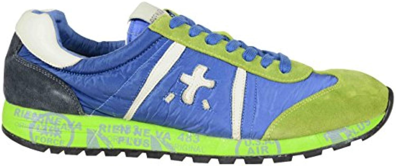 PREMIATA Herren LUCY919 Blau/Grün Polyester Sneakers