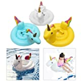 #10: Generic Kids Baby Inflatable Flamingo Unicorn Swim Ring Float Raft Seat Swimming Pool (White)