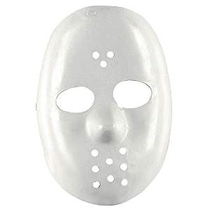 WIDMANN vd-wdm4698b máscara de Hockey, color blanco, talla única
