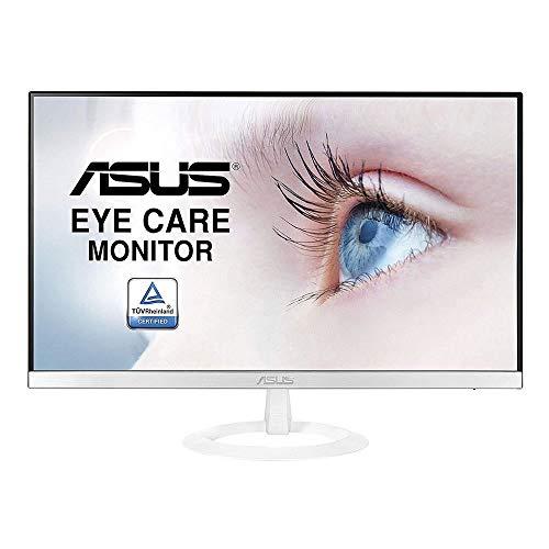 Asus VZ249HE-W 60,45 cm (23,8 Zoll) Monitor (Full HD, Eye-Care, VGA, HDMI, 5ms Reaktionszeit) weiß