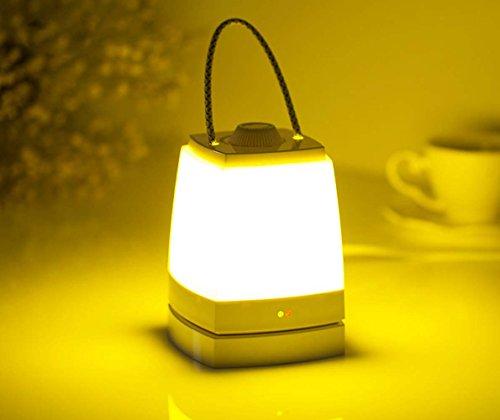 Lampe portable de la main enchanteresse, keeda romantique lampe de la nuit de la nuit, lampe de table rechargeable de la tête, lumière que acampa, éclairage extérieur, éclairage de secours, lumières de la lecture Lumière jaune