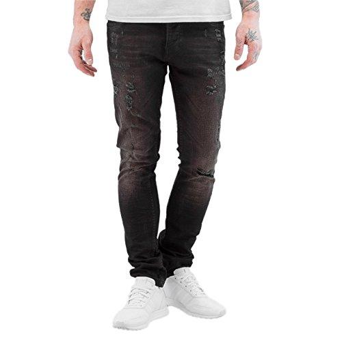 2Y Herren Jeans / Skinny Jeans Used Schwarz
