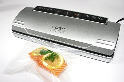 CASO VC10 Vakuumierer - Vakuumiergerät, Lebensmittel bleiben bis zu 8x länger frisch - natürliche Aufbewahrung ohne Konservierungsstoffe, 30cm lange Schweißnaht, einfach zu bedienen, inkl. 10 gratis Profi-Folienbeutel - 13