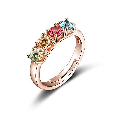 AIUIN 1pc anillo ajustable en Plata 4 Color Estilo Pedrer a para mujer con anillo moda elegante Ni as Estilo Nuevo Ajustable