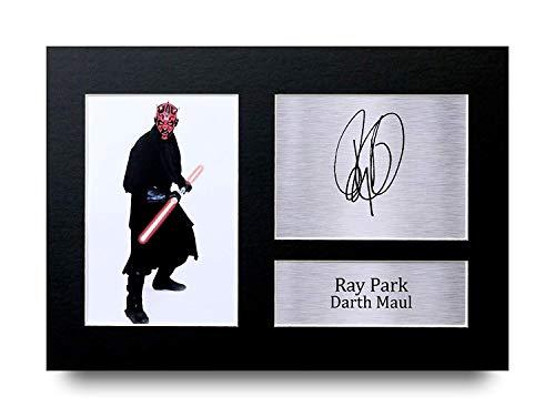 HWC Trading Ray Park Geschenke Unterzeichneten A4 Gedrucktes Autogramm Star Wars Darth Maul Druck-Foto-Bilderanzeige