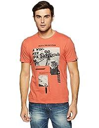 LP Jeans By Louis Philippe Men's Solid Slim Fit T-Shirt - B07DSR1XFQ