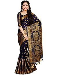 49cca591bfe10 Mimosa Women s Art Silk Saree With Blouse Piece (4050-241-Sd-Nvy