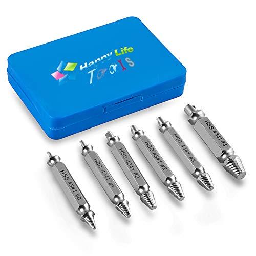Schraubenausdreher-Set, HappyLife H.S.S. 4341# 6 Stück schraubenausdreher satz schrauben entferner Beschädigte Schraubenzieher zum entfernen Kaputter Schrauben oder Bolzen