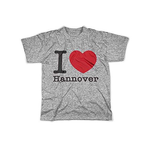 licaso Herren T-Shirt mit I Love Hannover Aufdruck in Grey Gr. XXXXL I Love Hannover Design Top Shirt Herren Basic 100{3c10241b4ee0c8c03027460a695ea99c59f5dd9cc91fd2d4189805f8fc859abf} Baumwolle Kurzarm