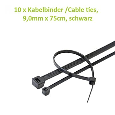 Kabelbinder /Cable ties, 9,0mm x 75cm, schwarz 10 Stk. von Betrona bei Lampenhans.de