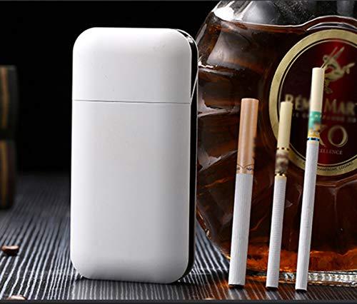 AAXLF Zigarettenetui, 20 Stück Grobrauch, 10 Stück Grobrauch, Automatische Kassette, Integriertes Zigarettenetui Mit Aufladendem Zigarettenanzünder, Unisex,A