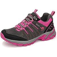 CAMEL CROWN Zapatos de Senderismo para Mujer Zapatillas de Escalada Calzado de Ante para Alpinismo, Zapatos de Excursionismo Zapatos Seguros para Actividades al Aire Libre, Excursionismo, Gimnasia