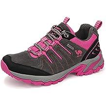 CAMEL CROWN Zapatos de Senderismo para Mujer Zapatillas de Escalada Calzado de Ante para Alpinismo,