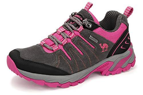 CAMEL CROWN Zapatos de Senderismo para Mujer Zapatillas de Escalada Zapatos Seguros para Alpinismo Montaña...