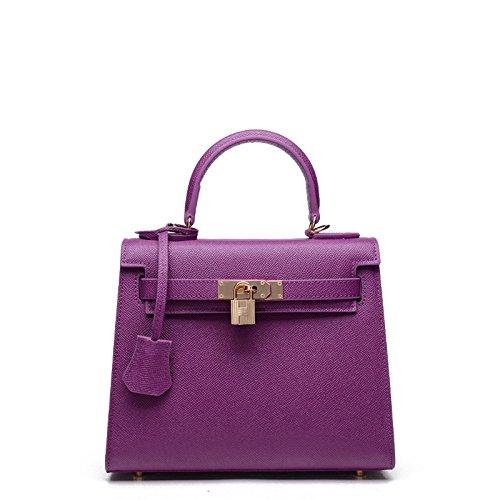 GUANGMING77 Kylie _ Borsette Borsette Borsetta Bag Mini Borsa Tracolla Palm Messenger,Kaki violet
