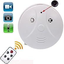Electro-Weideworld - 1280x960P HD Cámara Espía Detector de Humo Movimiento Activado Grabador de Vídeo Mini DV Videocámara