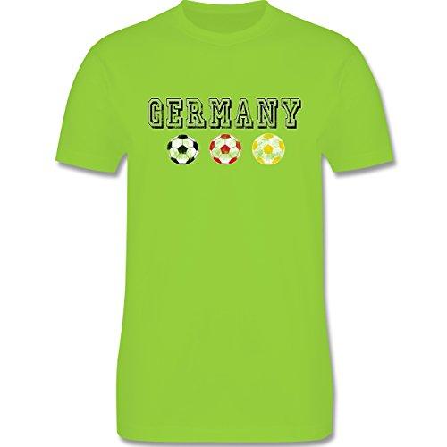 EM 2016 - Frankreich - Germany mit Fußbälle Vintage - Herren Premium T-Shirt Hellgrün
