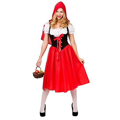 Red Riding Hood Costume Woman Fancy Dress (M&m Kostüm Red)