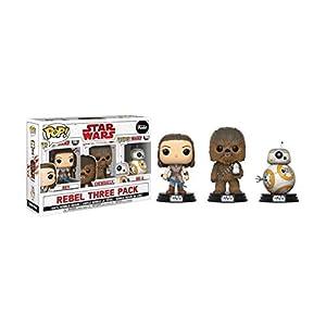 Funko-Star Wars Los Últimos Jedi, Caja con 3 Figuras: Rey Chewbacca, 26487