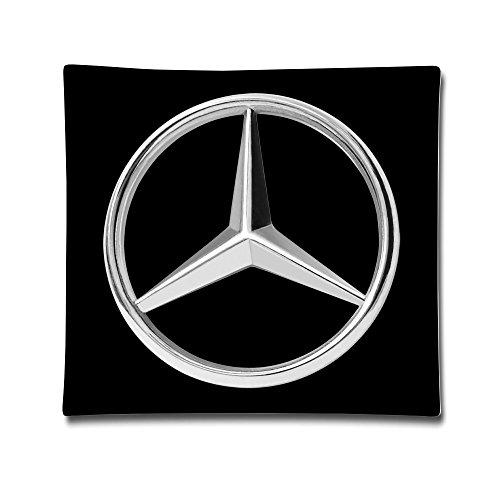 Mercedes Benz Logo Baumwolle Satin Kissenbezug (45,7x 45,7cm) -