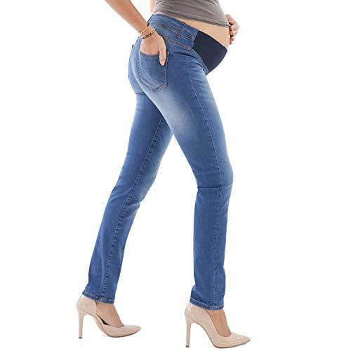 a02f3e09562a9 Jeans premaman con elastico vita e morbido sul pancione vestibilità slim  Jeans Helen