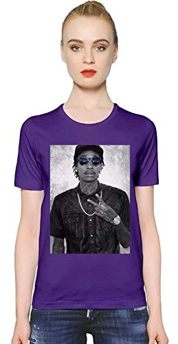 Wiz Khalifa mit blauen Sonnenbrillen with Blue Sunglasses Women T-Shirt Girl Ladies Stylish Fashion Fit Custom Apparel by X-Large