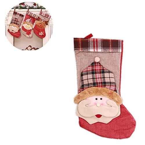 Decorazioni natalizie calze decorazioni natalizie grandi calze di natale da 44 * 22 cm sacchetti per borse da viaggio per bambini,a
