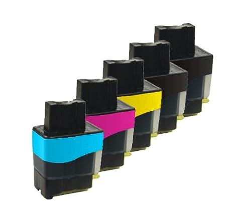 5x Haute Capacité Cartouches d'encre Compatibles pour Imprimante Brother MFC