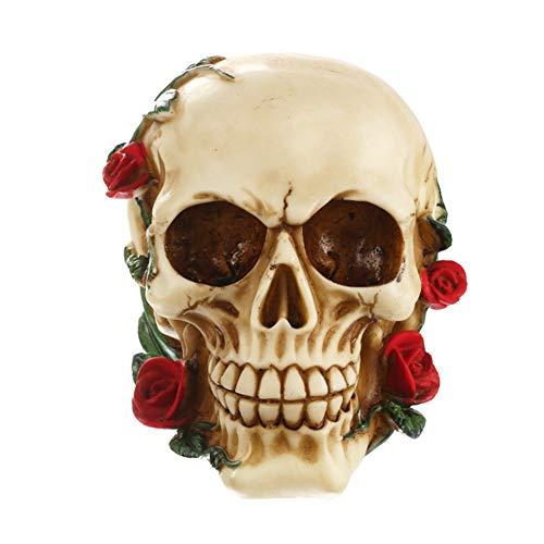 Beste Scary Halloween Dekorationen - WEISY Halloween-Schädeldekoration Scary Resin Skull für