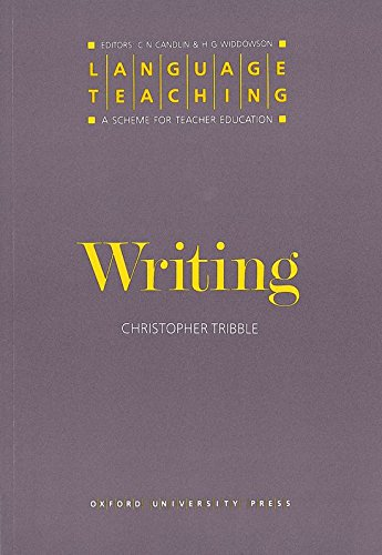 Language Teaching. a Scheme for Teacher Education: Writing