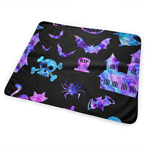 Halloween Icons in Black Rainbow Candy Diaper Changing Pads for Baby Toddler Children and Adults 31.5 X 25.5 inchfor Baby Toddler Children and Adults 31.5 X 25.5 inch ()