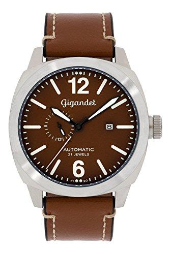 Gigandet Red Baron Herren-Armbanduhr Automatik Analog mit Lederarmband G16-002