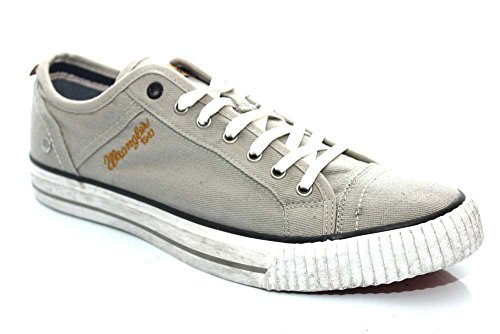 MENS WRANGLER STARRY LOW CANVAS TRAINERS SHOES SIZE UK 6 – 12 (UK10/EU44, Grey)